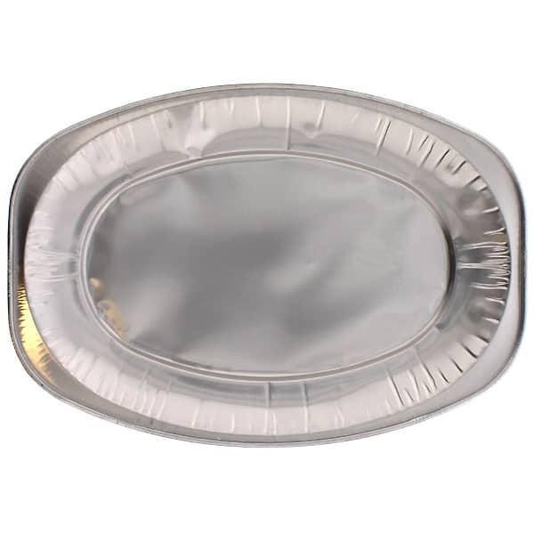 Pequeños Platos Ovalados de Papel de Aluminio - 14 pulgadas / 35 cm - Paquete de 100