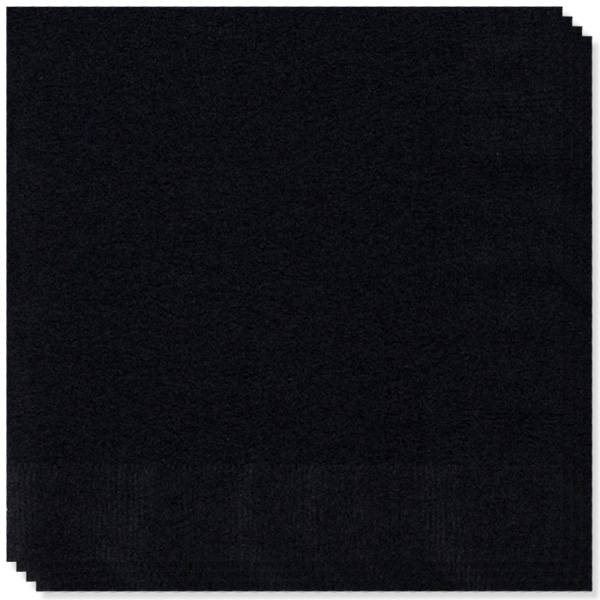 20 Servilletas Negras 33cm 2 capas