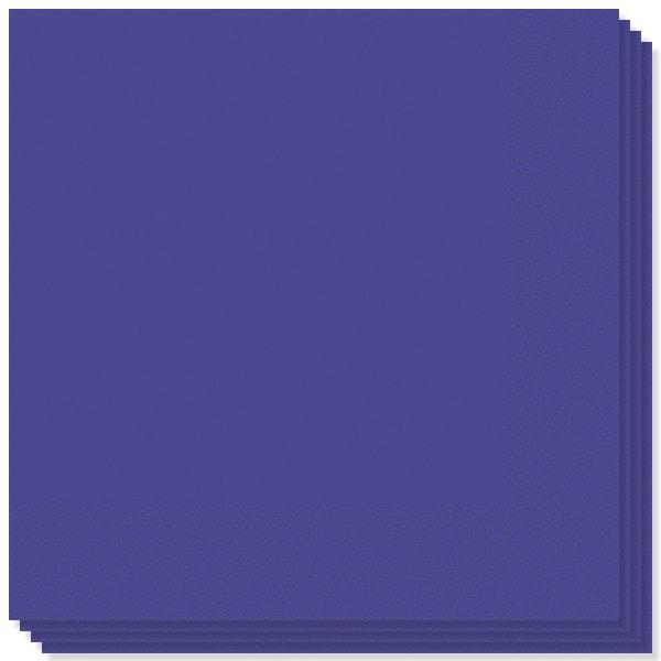 Servilletas violetas de 2 capas - 16 pulgadas / 40 cm - Paquete de 20