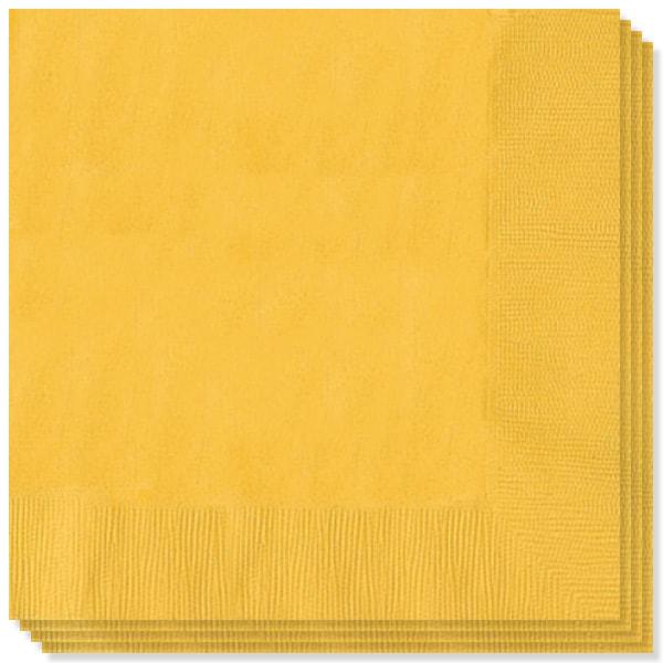 20 Color Amarillo Radiante Servilletas 33cm 2 capas