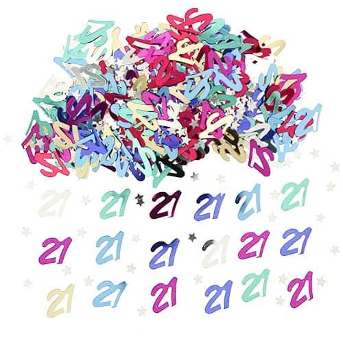Confeti De Mesa Surtido Del 21 Cumpleaños - 14 Gramos