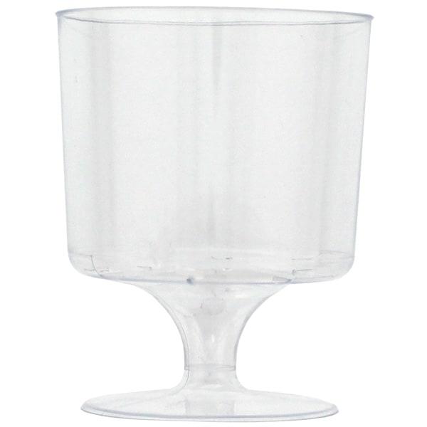 Plástico vidrios de vino - 5 oz / 148ml - Pack de 8