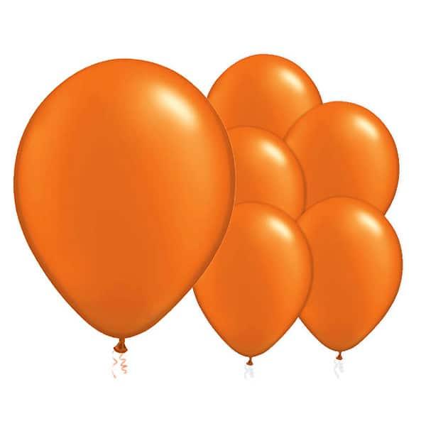 Globos De Látex Biodegradables Naranjas - 12 Pulgadas / 30 Cm - Paquete De 50