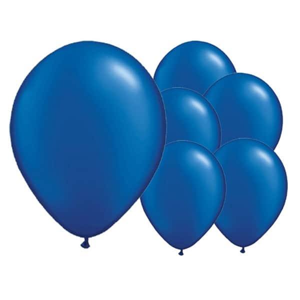 Globos De Látex Biodegradables Cósmicos Azules - 12 Pulgadas / 30 Cm - Paquete De 8