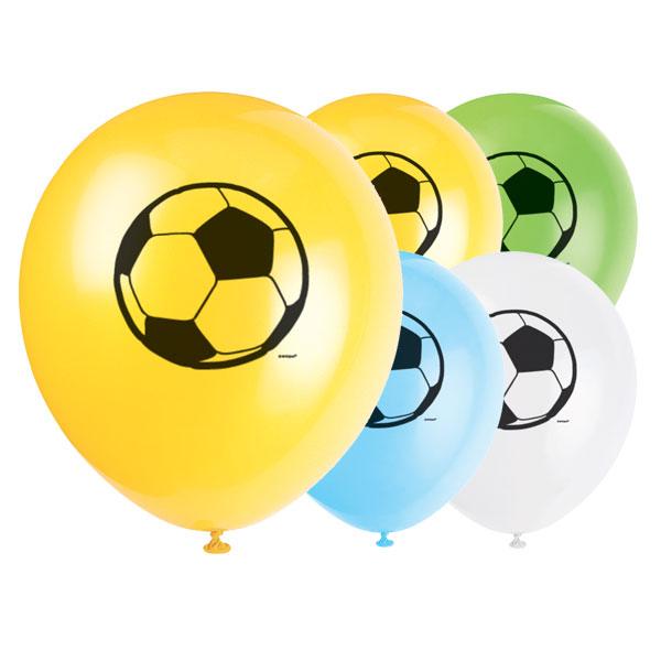 Fútbol Globos De Látex Biodegradables - 12 Pulgadas / 30 Cm - Paquete De 8