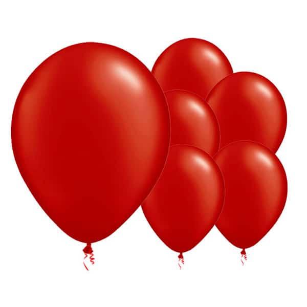 Globos De Látex Biodegradables Rojo Fuego - 12 Pulgadas / 30 Cm - Paquete De 8