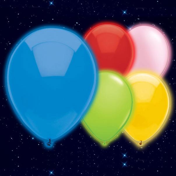 Globo Luminoso Varios Colores 23cm - Paquete de 5