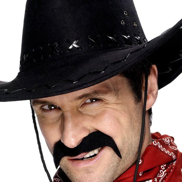 Bigote Cowboy Negro - Venta por Unidad