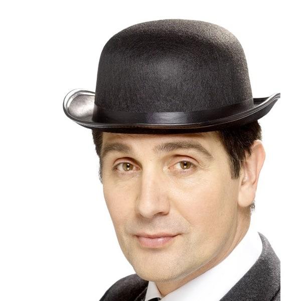 Negro Fieltro Sombrero de Bombín