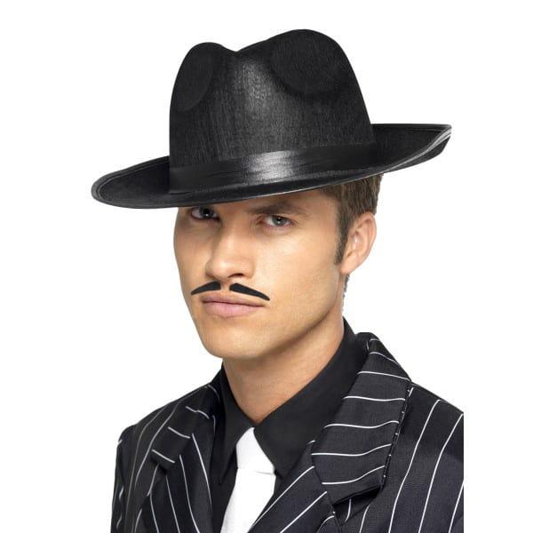 Negro Fieltro Trilby Sombrero Gángster