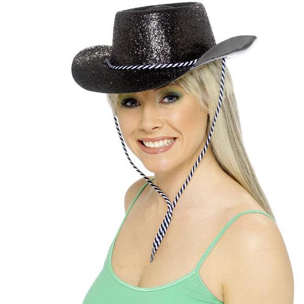 Sombrero Vaquero Negro Brillante