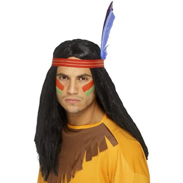 Peluca Negro Valiente Indio