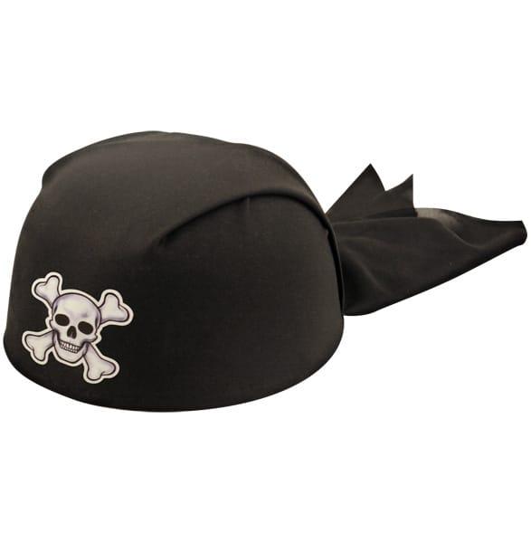 Negro Pirata Pañuelo Sombrero - Tamaño Adulto - Unidad