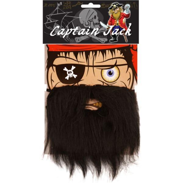 Barba Negra De Pirata Con Banda Elástica - Unidad