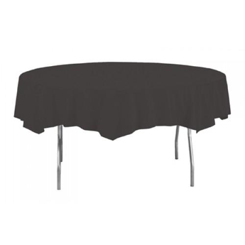 Mantel Redondo Plástico Negro 213Cm