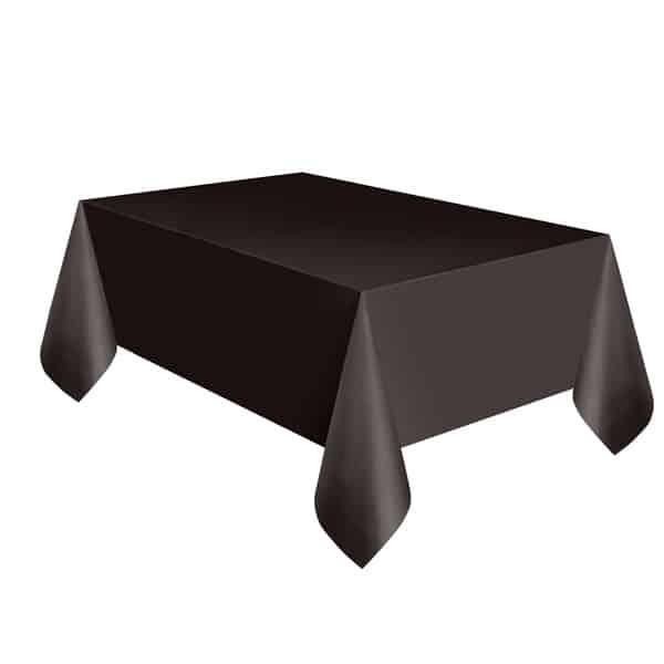 Mantel De Plástico Negro 274Cm X 137Cm