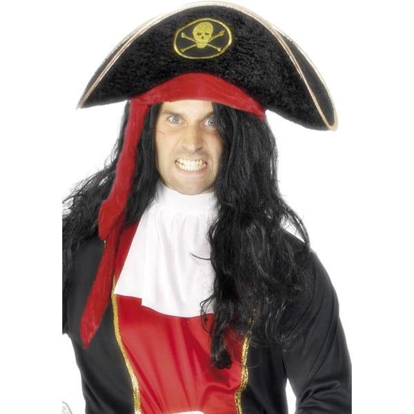 Negro Terciopelo Sombrero de Pirata