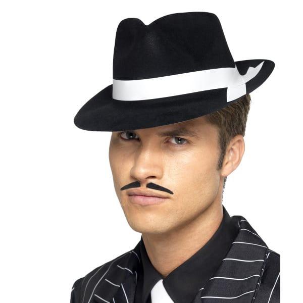 Negro con Banda Blanco Sombrero de Al Capone