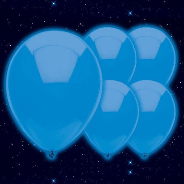 Globo Luminoso Azul 23cm - Paquete de 5