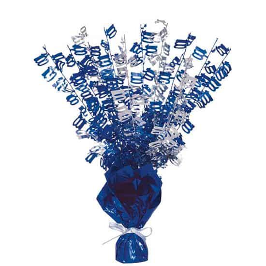 Edad 100 Azul Glitz Globo Peso Centro de Mesa - Unidad