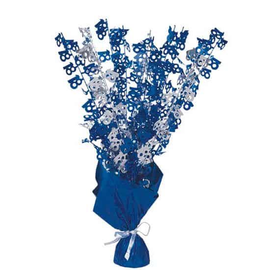 Edad 18 Azul Glitz Globo Peso Centro de Mesa - Unidad
