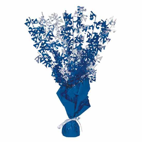 Edad 21 Azul Glitz Globo Peso Centro de Mesa - Unidad