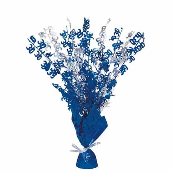 Edad 30 Azul Glitz Globo Peso Centro de Mesa - Unidad