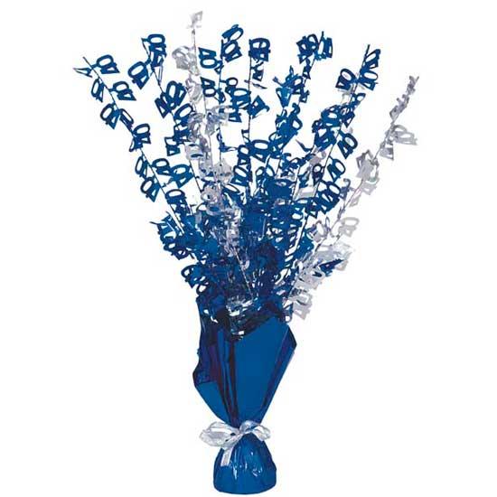 Edad 40 Azul Glitz Peso Globo Centro de Mesa - Unidad