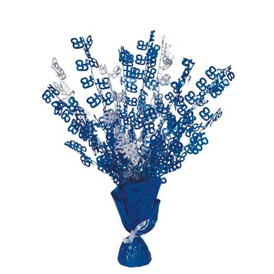 Edad 65 Azul Glitz Globo Peso Centro de Mesa - Unidad