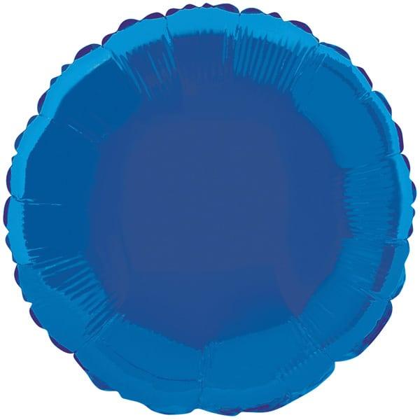 Globo Foil Redondo Azul de 45 cm
