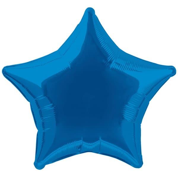 Globo Foil Estrella Azul de 48 cm