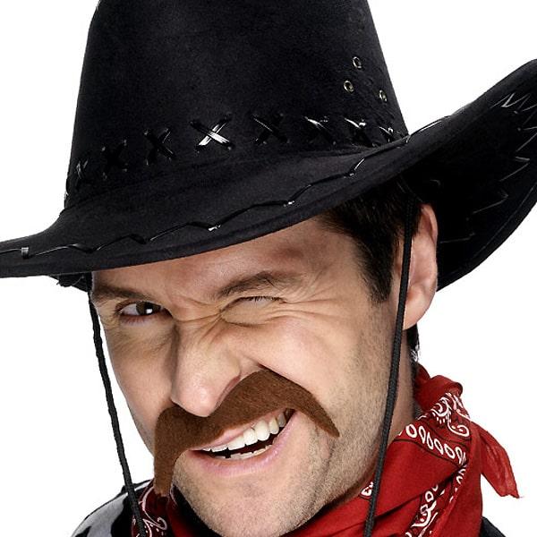 Bigote Cowboy Marrón - Venta por Unidad