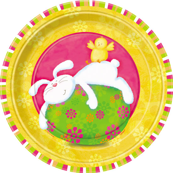 Fiesta de Conejito 23cm Plato de Papel - Unidad
