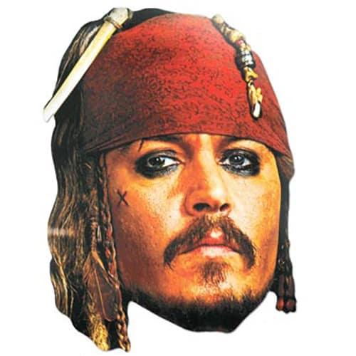 Captain Jack Sparrow Famosos Máscara de Cartón - Unidad