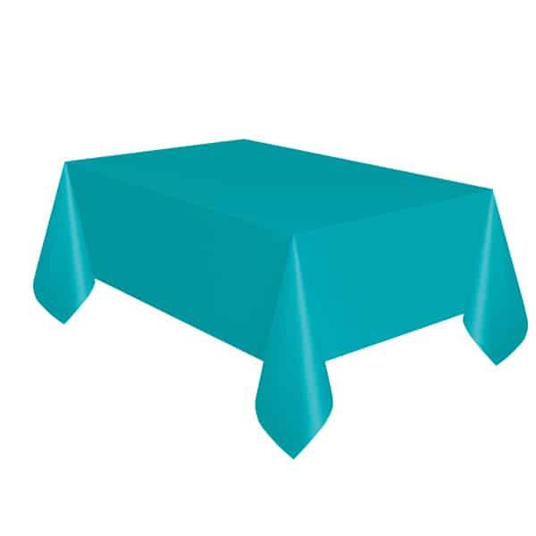 Mantel De Plástico Verde Azulado Caribeño 274Cm X 137Cm