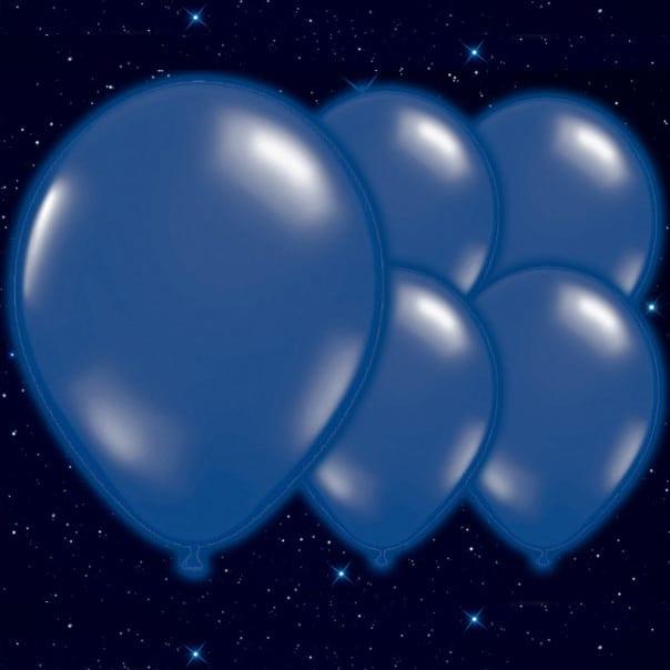 Azul Oscuro 23cm Globos Luminosos - Pack de 5