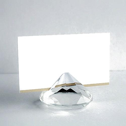 Peso Diamante Tarjeta Soporte 50mm Despejado - Pack de 12