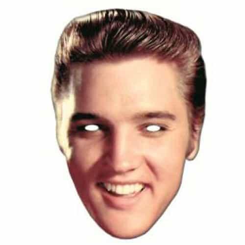 Elvis Presley Rock y Roll Famosos Máscara de Cartón - Unidad