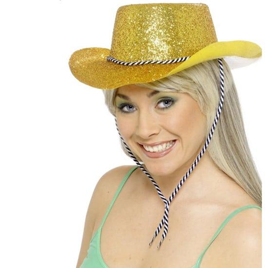 Sombrero del Vaquero Brillos Dorados