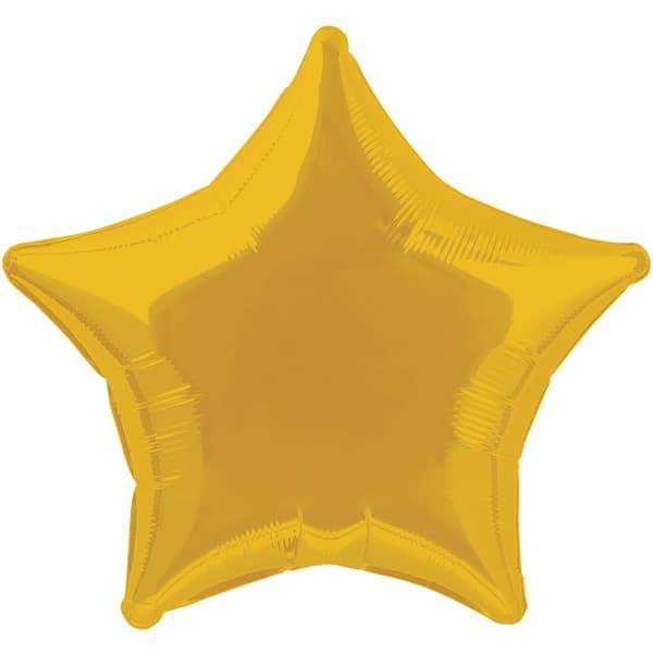 Globo Foil Estrella Dorada de 48 cm