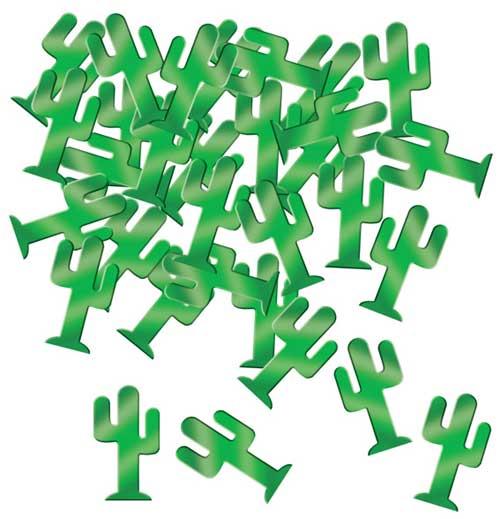 Confeti de Mesa de Cactus Verde - 28 Gramos