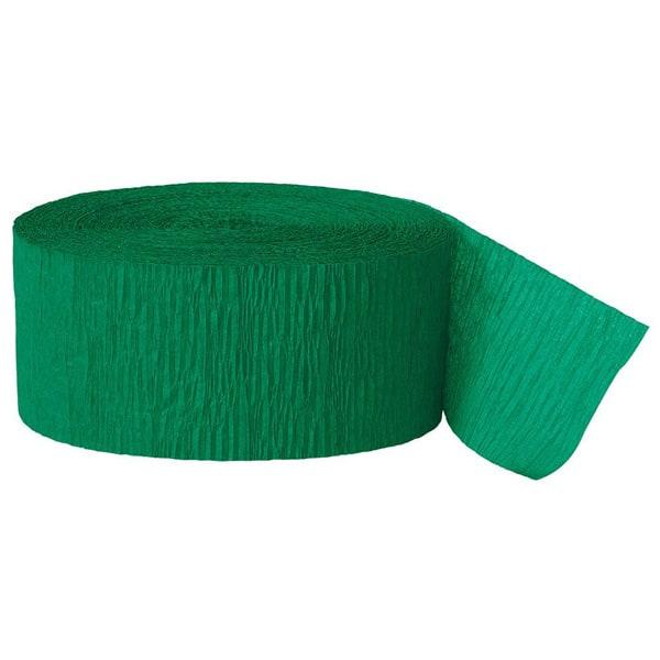 Serpentina Verde De Papel Crepe