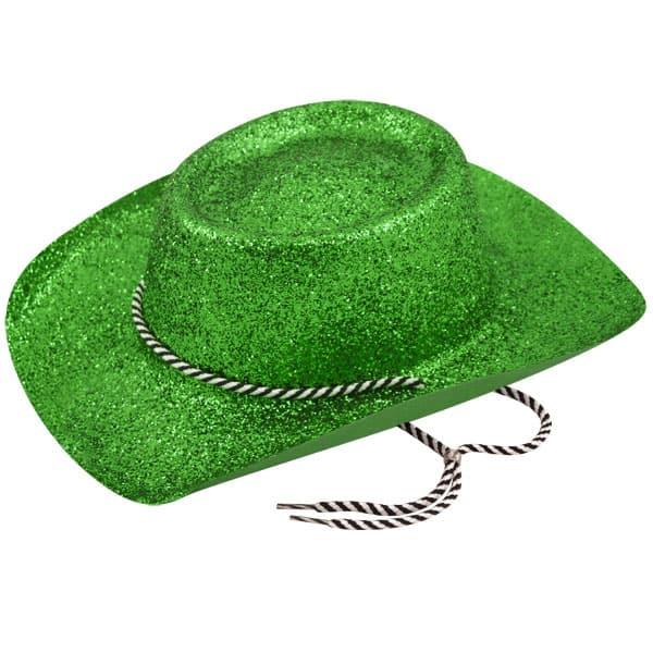 Verde Brillo Sombrero de Vaquero
