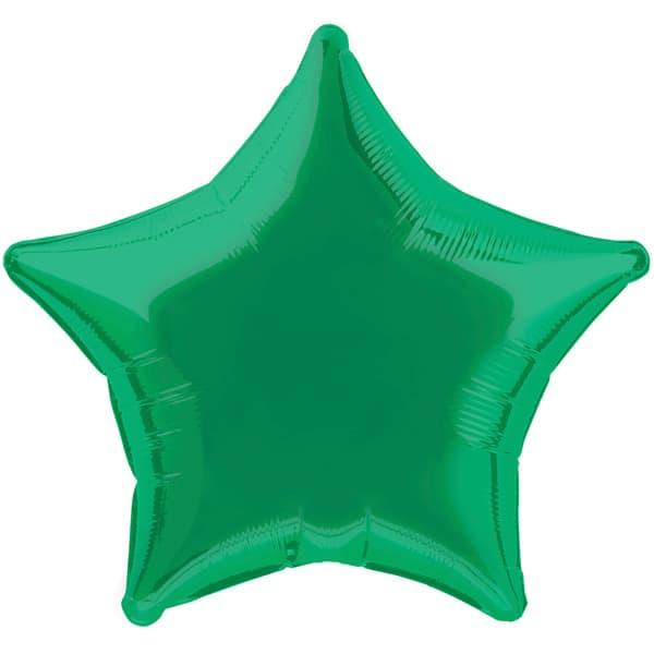 Globo Foil Estrella Verde de 48 cm
