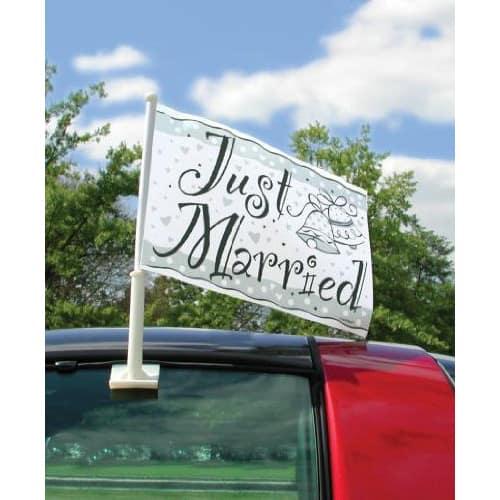 Bandera de auto de Just Married