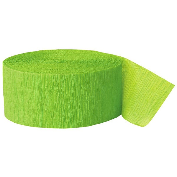 Serpentina Verde Lima De Papel Crepe