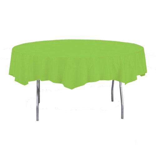 Mantel Redondo Plástico Verde Lima 213Cm