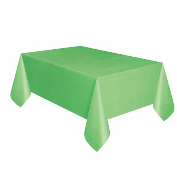 Mantel De Plástico Verde Lima 274Cm X 137Cm
