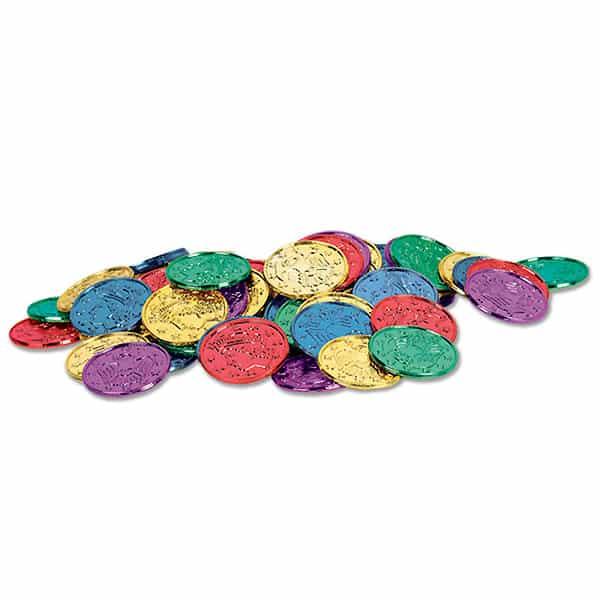 Monedas de Plástico de varios colores - Paquete de 100