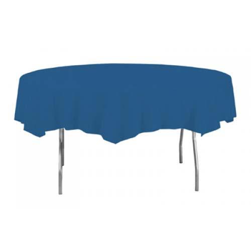Mantel Redondo Plástico Azul Real 213Cm